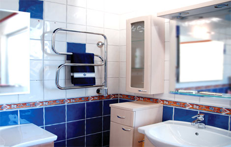 Перенос полотенцесушителя на другую стену в ванной инструктаж