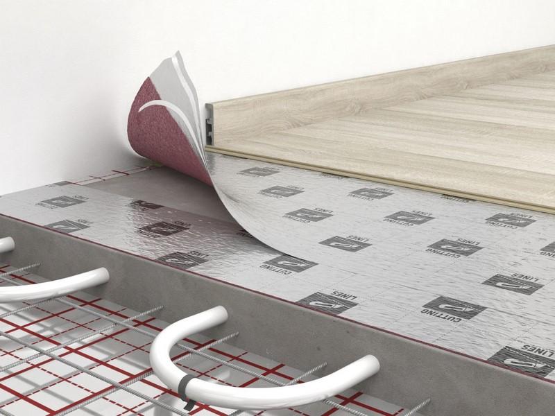 Фольгированная подложка под теплый пол