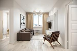 проект-дизайн двухкомнатной квартиры