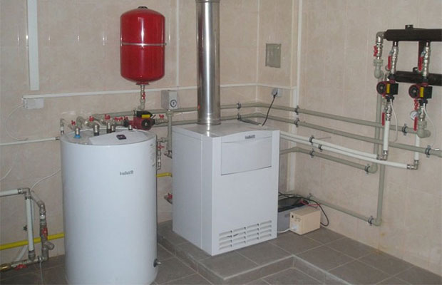 Двухтрубная система отопления частного дома своими руками с нижней и верхней разводкой, с принудительной циркуляцией, схема